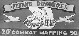 20th Combat Mapping Squadron Flying Dumbos insignia