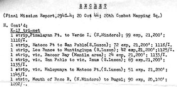 Page 3 of 3 of Final Mission Report 294Z-4, 20 Oct 44