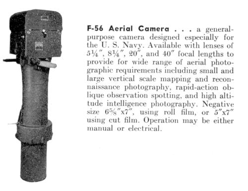 F-56 aerial camera with 40 inch lens