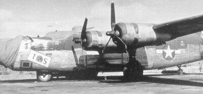 Left side view of F-7a 42-64051