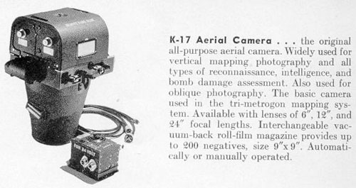 K-17 aerial camera with 12 inch lens
